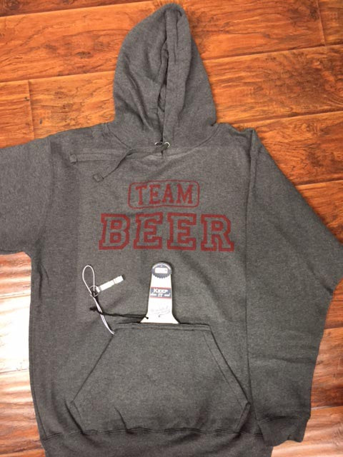 Team Hoodie with Holder and Bottle Opener