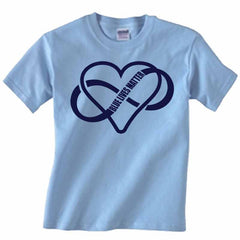 Blue Lives Matter Infinity Heart T-Shirt