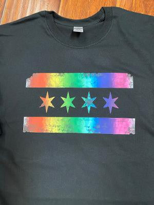Chicago Pride Flag T-Shirts and Vnecks