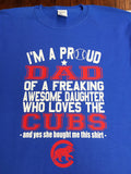 Chicago Cubs Daughter/Son Dad T-Shirt