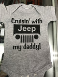 Cruisin With My Daddy Jeep Onesie