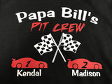 Grandpa's Pit Crew T-Shirt or Papa or Uncle Bill - CUSTOMIZE ME