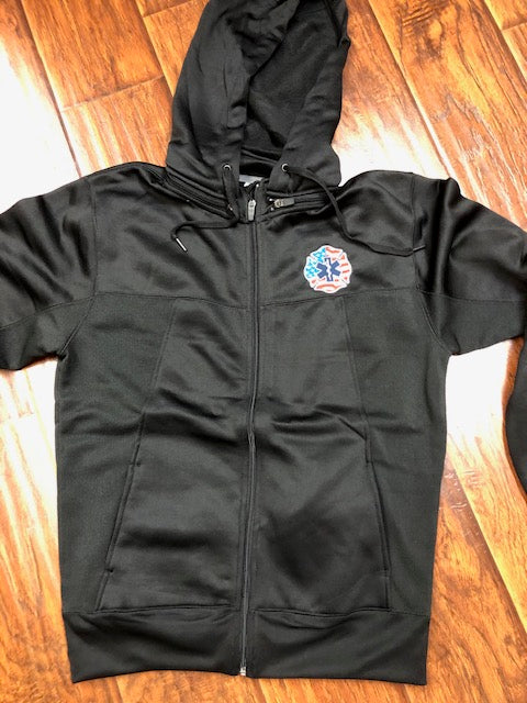 EMT USA Full Zip Polytech Jacket embroidered logo