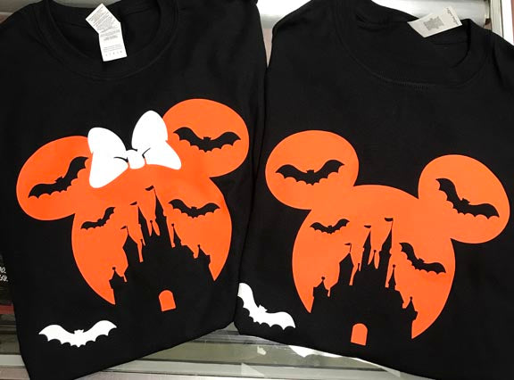 Mickey Mouse Minnie Mouse Ears Haunted Halloween T-Shirt