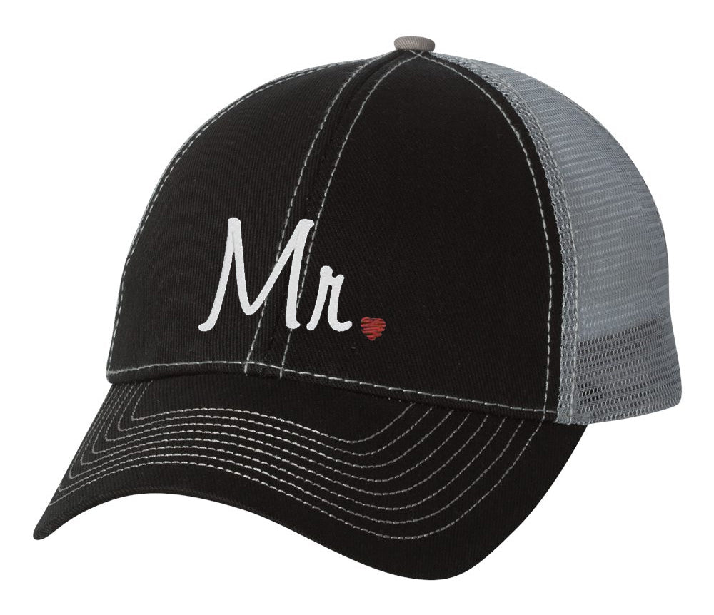 Mr. and Mrs. Trucker Wedding or Just Married Hats - Variety of Colors
