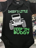 Daddy's Little Jeep'in Buddy Onesie