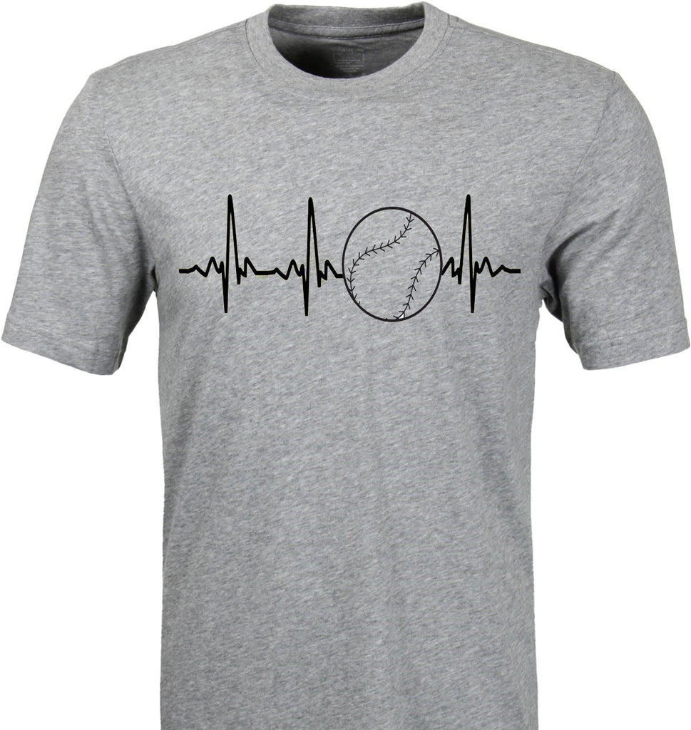 Heartbeat Pulse Baseball t-shirt  All American