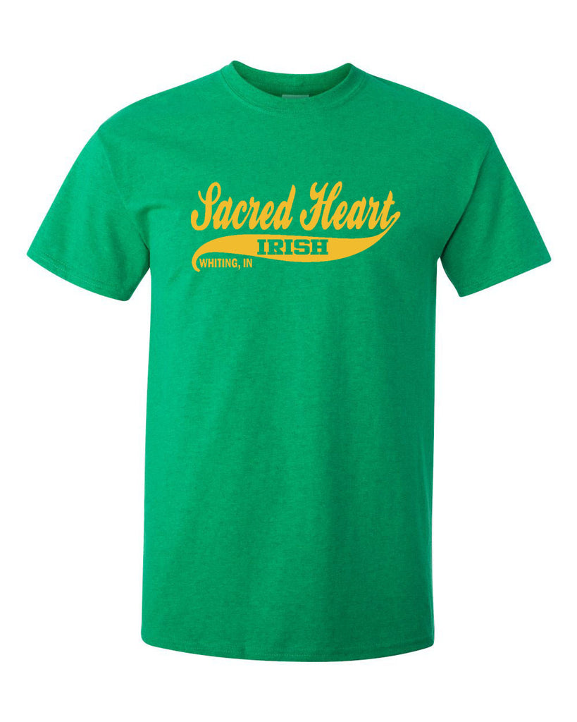 Sacred Heart Whiting Indiana in GREEN or NAVY T-Shirt