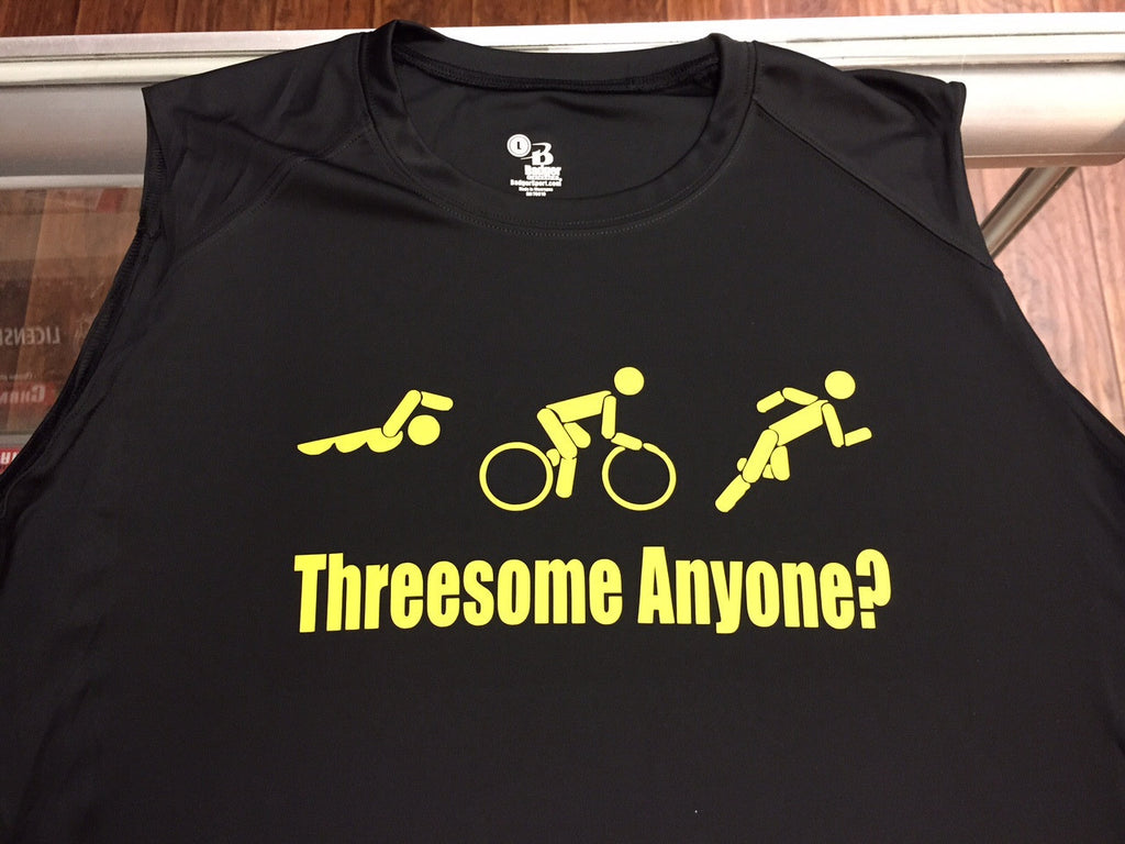 Threesome Anyone?  Triathlon Dri Fit Sleeveless T-Shirt