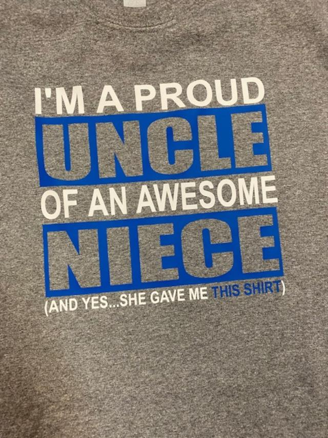 I'm a Proud Uncle of an Awesome Niece T-Shirt