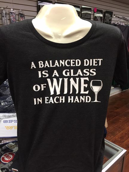 Well Balanced Diet Wine T-Shirt