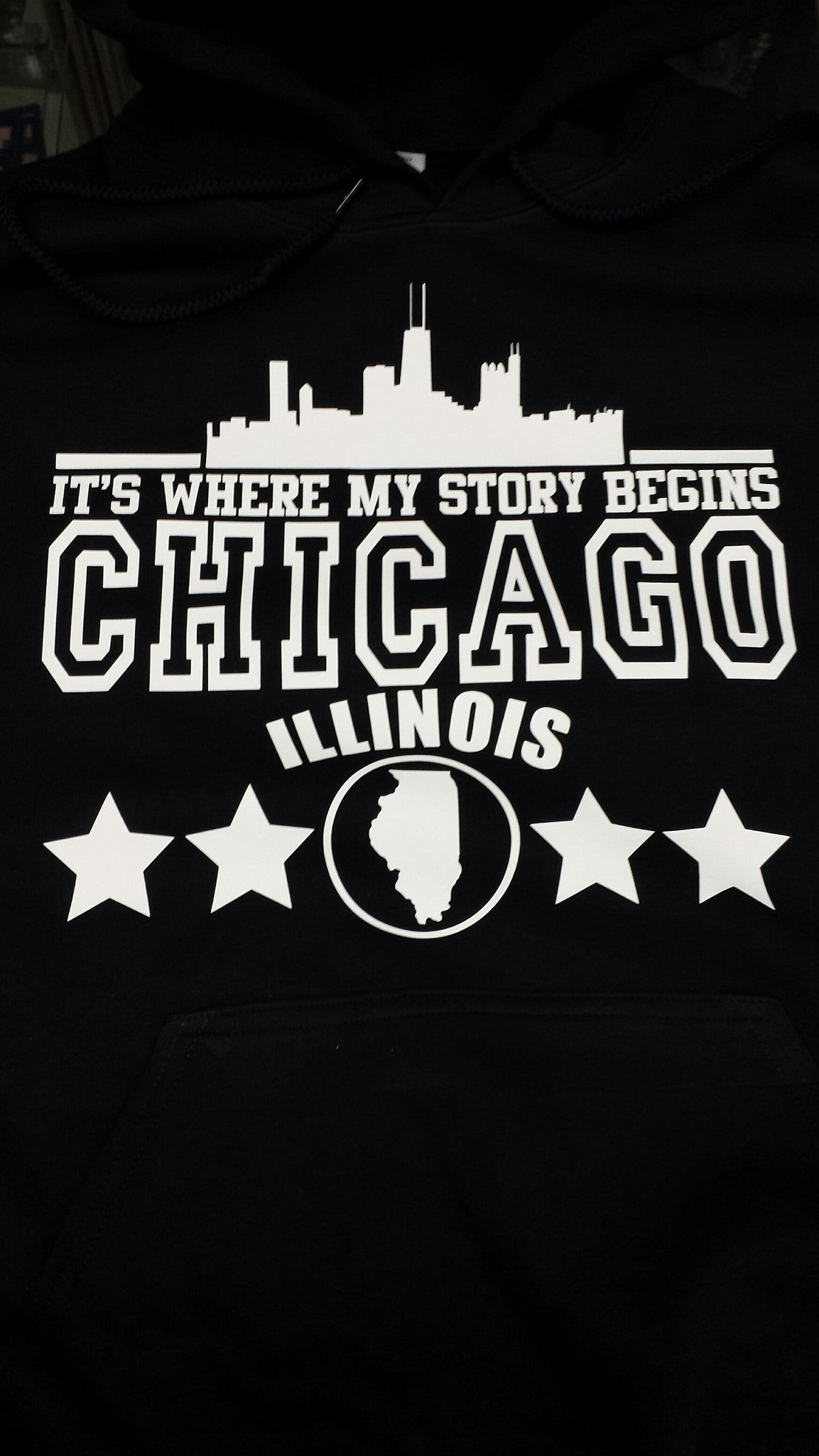 Chicago Where My Story Begins Illionois Hoodie
