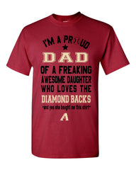 Arizona Diamondbacks Dad Daughter T-Shirt