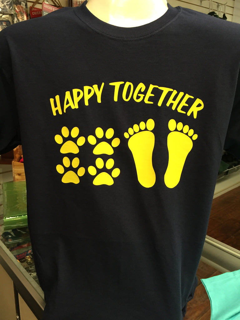 Happy Together Dog Paw and Barefoot T-Shirt