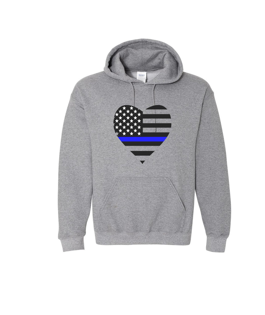 Police heart Hoodie wife daughter grand daughter love