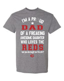Cincinnati Reds Dad Daughter T-Shirt