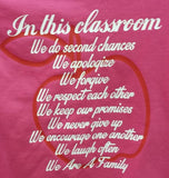 Teacher t-shirt Hot Pink Classroom gift