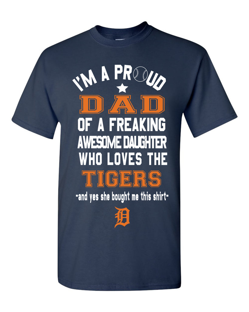 Detroit Tigers Dad Daughter T-Shirt