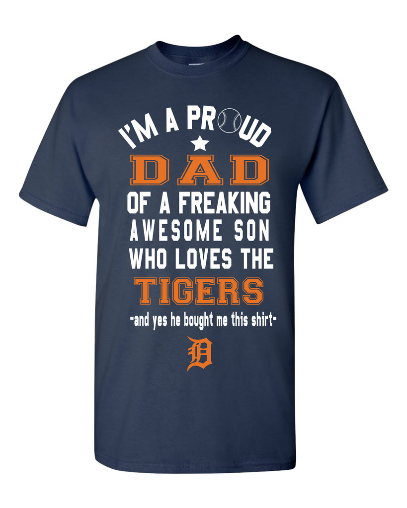 Detroit Tigers Dad Son T-Shirt