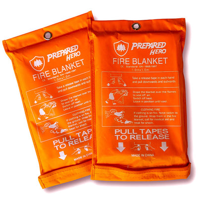 Emergency Fire Blanket by Prepared Hero