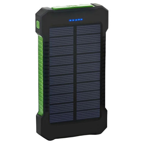 SunCharge - 8,000 mAh Solar Power Bank with Dual USB Charging - Uber Crave Survival Gear