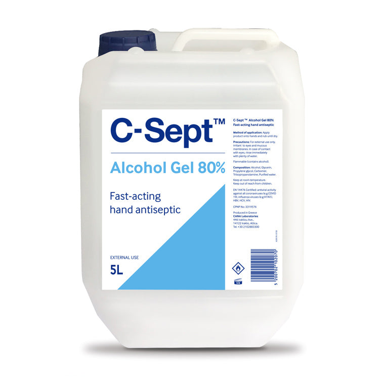C-Sept™ Alcohol Gel 80% Bottle 5L