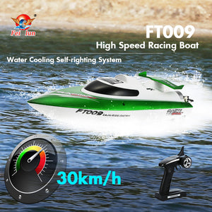 Feilun FT009 2.4G 30km/h High Speed RC Racing Boat with Water Cooling - Toy Centre