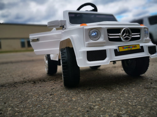 Ride On G-wagon White - Toy Centre