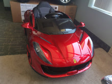 Load image into Gallery viewer, Ferrari Replica Kids Ride on Car with Remote - Red - Toy Centre