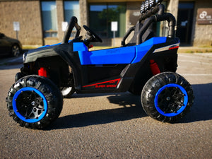 Ride on 2 Seater with Remote - blue - Toy Centre