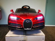 Load image into Gallery viewer, Bugatti Replica Kids Ride on Car with Remote - Red - Toy Centre