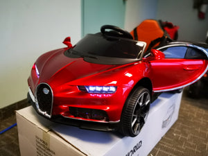 Bugatti Replica Kids Ride on Car with Remote - Red - Toy Centre