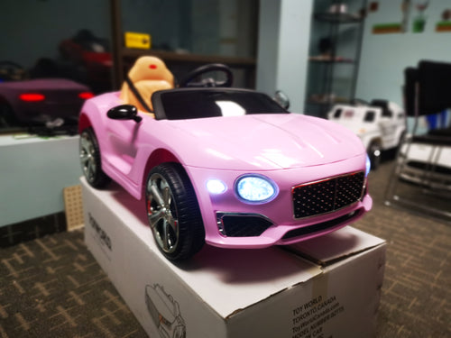 Bentley Replica Kids Ride on Car with Remote - Pink - Toy Centre
