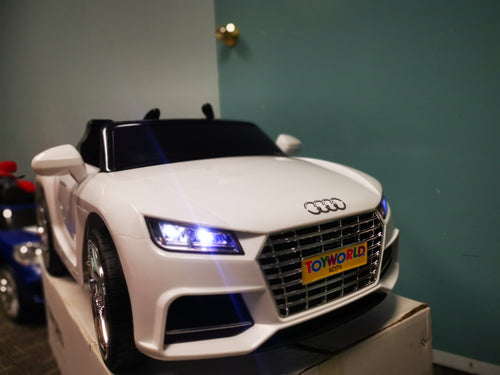 Audi Replica Kids Ride on Car with Remote - White - Toy Centre