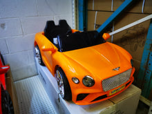Load image into Gallery viewer, Bentley Replica Kids Ride on Car with Remote - Orange - Toy Centre