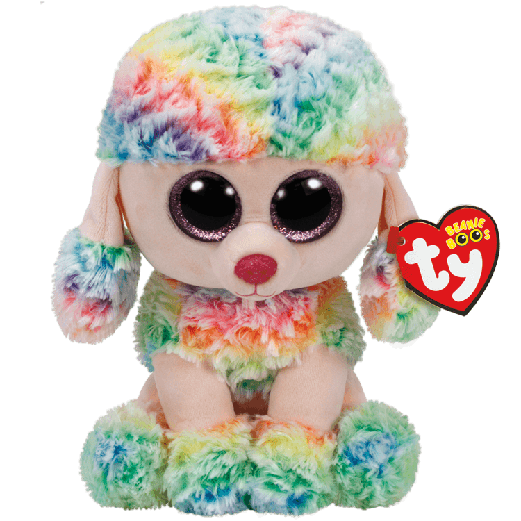 Rainbow Multicolor Poodle Medium - Toy Centre