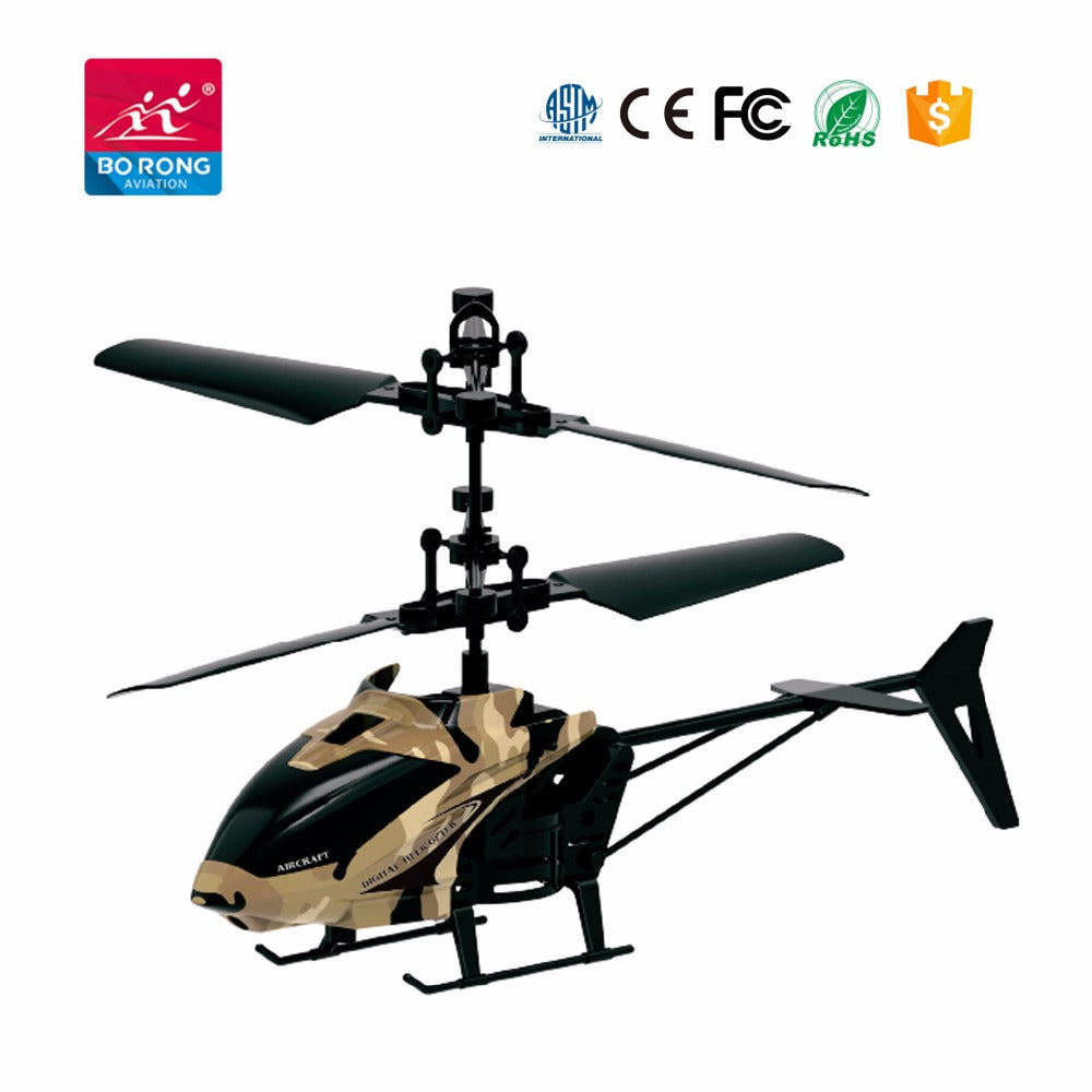 Hand sensor 2 channel mini flying helicopter - Camo - Toy Centre