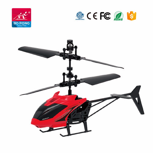 Hand sensor 2 channel mini flying helicopter - Red - Toy Centre