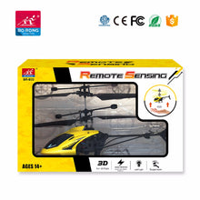 Load image into Gallery viewer, Hand sensor 2 channel mini flying helicopter - Yellow - Toy Centre