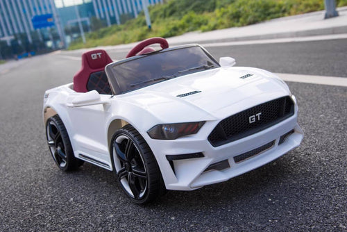 Ford Mustang GT Replica Kids Ride on Car with Remote (white) - Toy Centre