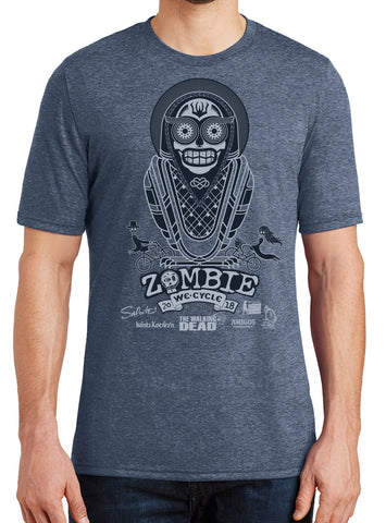 2018 Zombie Bike Ride Men's Tee in Navy