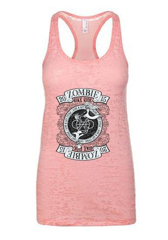 2015 Zombie Jane Racerback Burnout Tank - Light Pink
