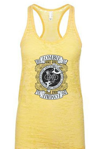 2015 Zombie Jane Racerback Burnout Tank - Banana Cream