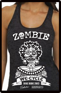 2013 Zombie Jane Racerback Tank - Burnout Black