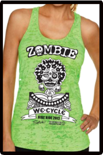 2013 Zombie Jane Racerback Tank - Burnout Green