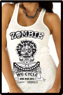 2013 Zombie Jane Racerback Tank - Burnout White