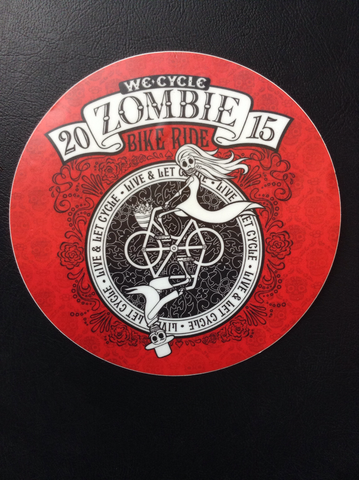2015 Zombie Bike Ride Sticker