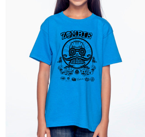 2014 Zombie Youth T-Shirt Blue