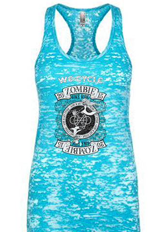 2015 Zombie RIDE Racerback Burnout Tank - Tahiti Blue