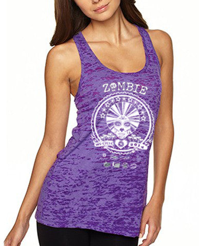 2014 Zombie Jane Racerback Tank - Burnout Purple